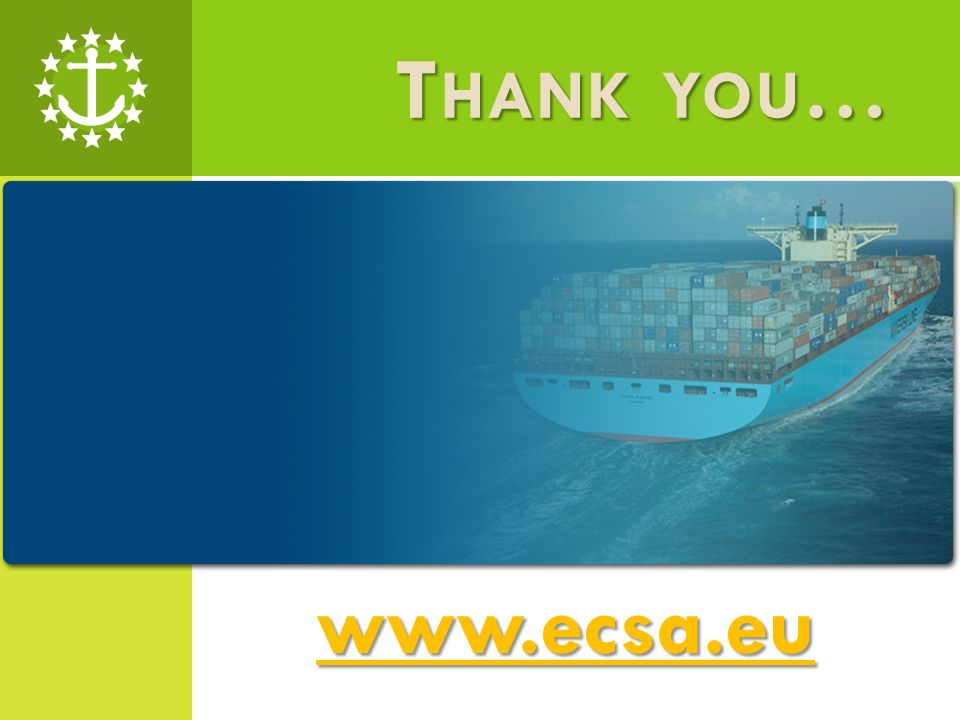 T HANK YOU … www.ecsa.eu