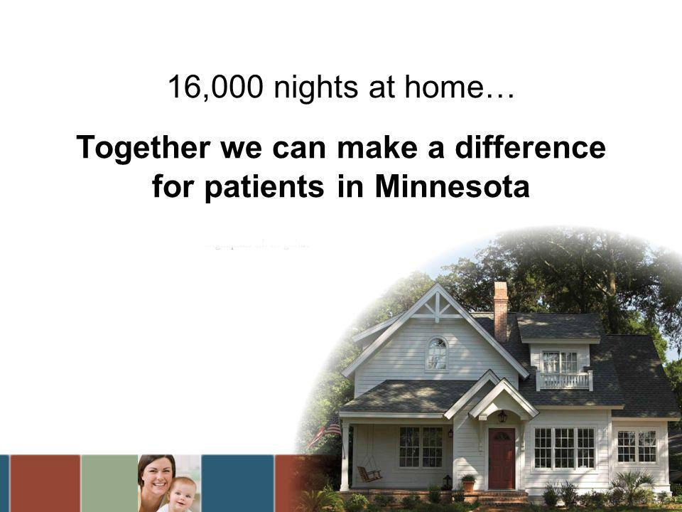 16,000 nights at home… Together we can make a difference for patients in Minnesota