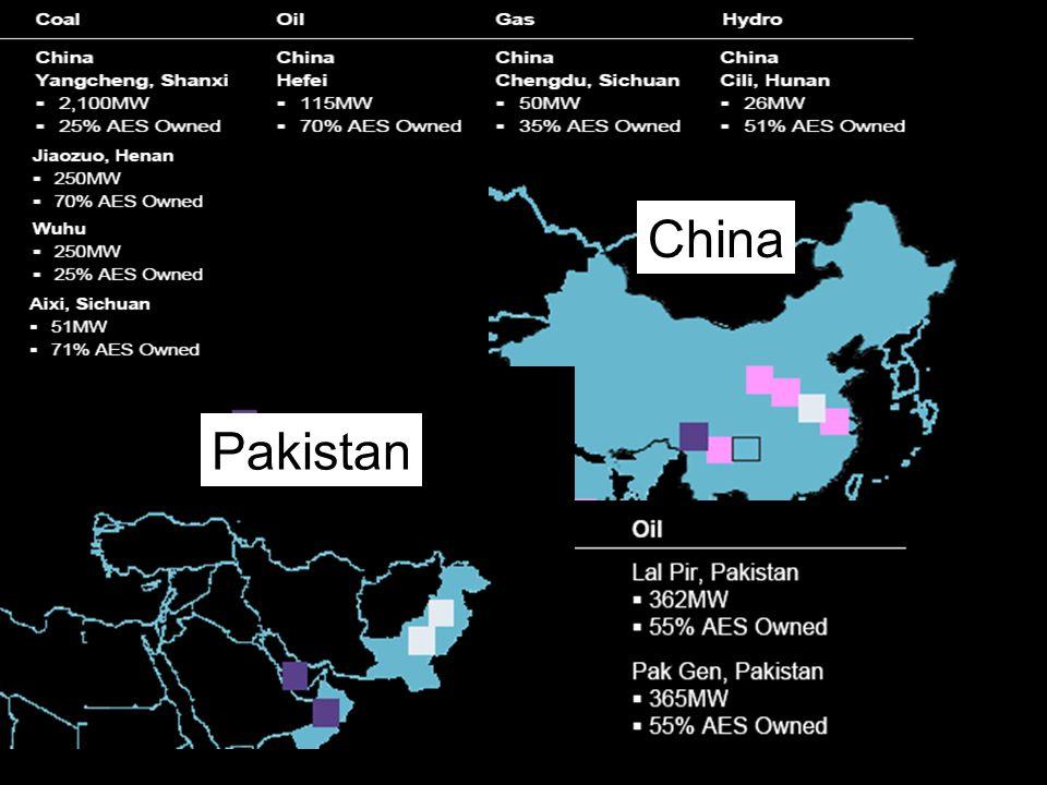 AES CORPORATION China Pakistan