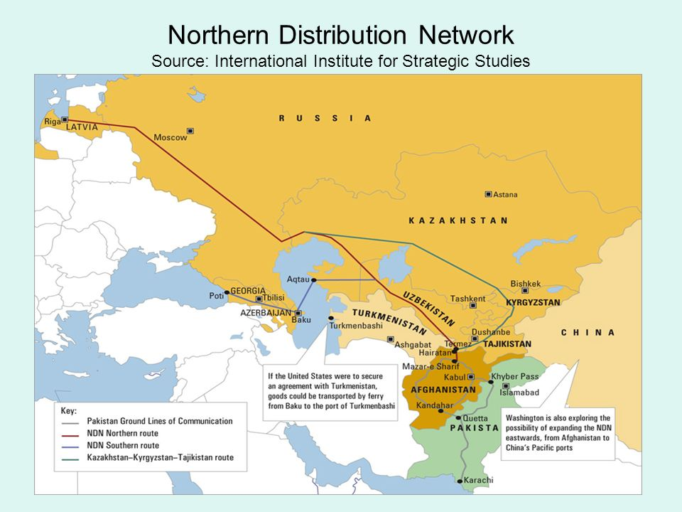Northern Distribution Network Source: International Institute for Strategic Studies