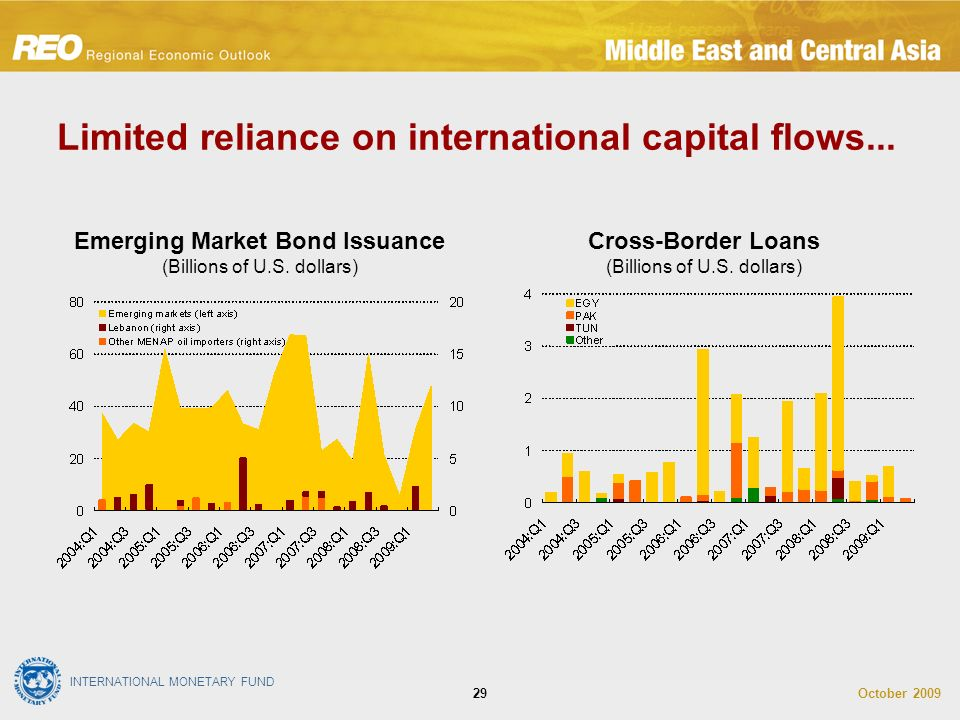 INTERNATIONAL MONETARY FUND October Limited reliance on international capital flows...