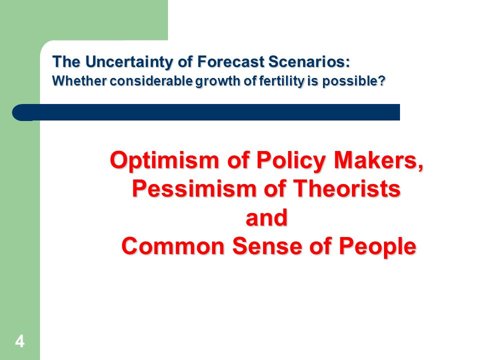 Policy makers and general public show unfounded optimism: the fertility problem seems easily manageable and therefore must be solved At ordinary level, it is believed that the money (benefits) solves everything The official ideology (including such an active player as the church) rely on the ideas of traditionalism and national patriotism According to them, the new population policy adopted in 2007, no doubt, gives positive results Professional skepticism is not taken into account 5 OPTIMISM OF POLICY MAKERS