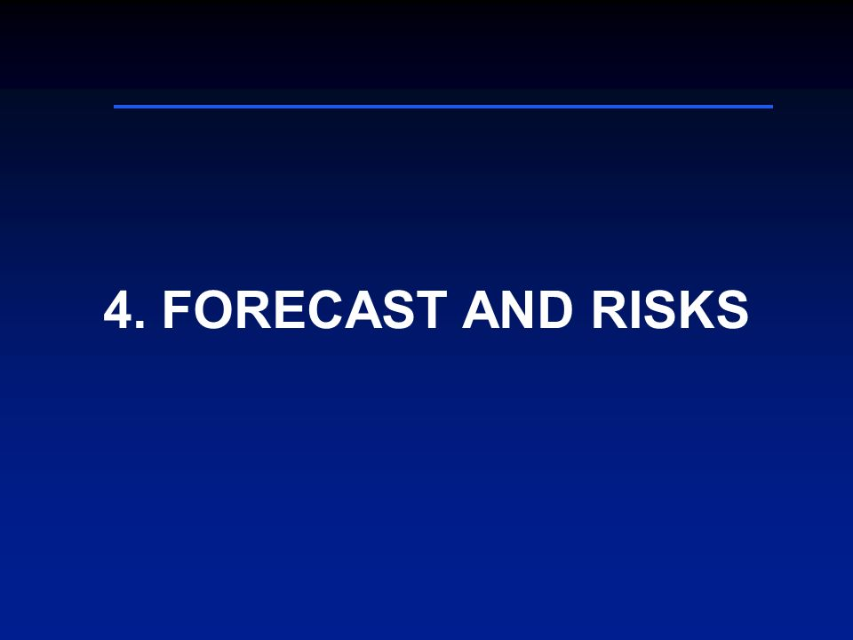 4. FORECAST AND RISKS