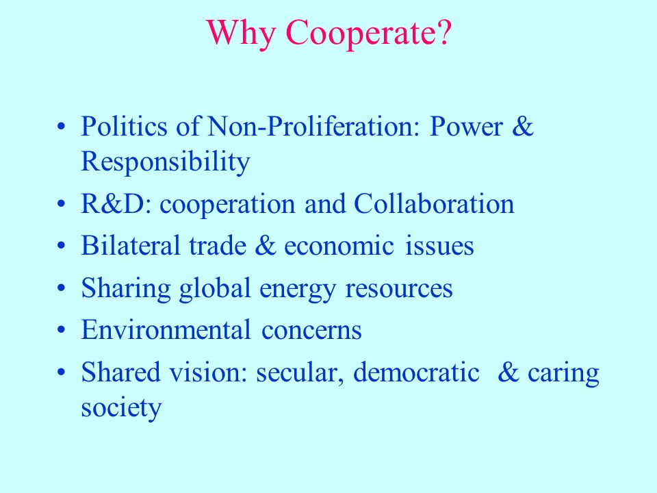 Why Cooperate.