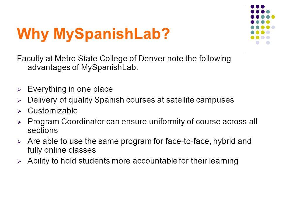 Why MySpanishLab.