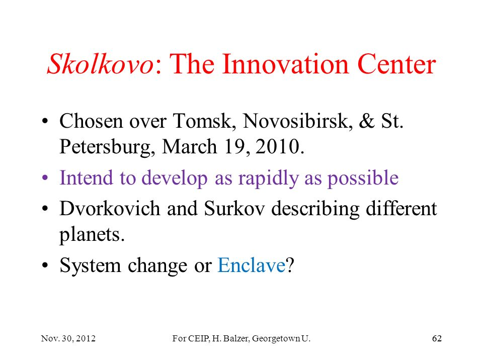 Home Country: Nanotech Patents Nov. 13, 2012Balzer, Govt 407, S T & I61