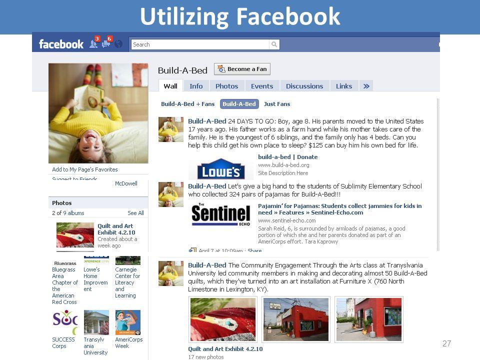 Utilizing Facebook 27