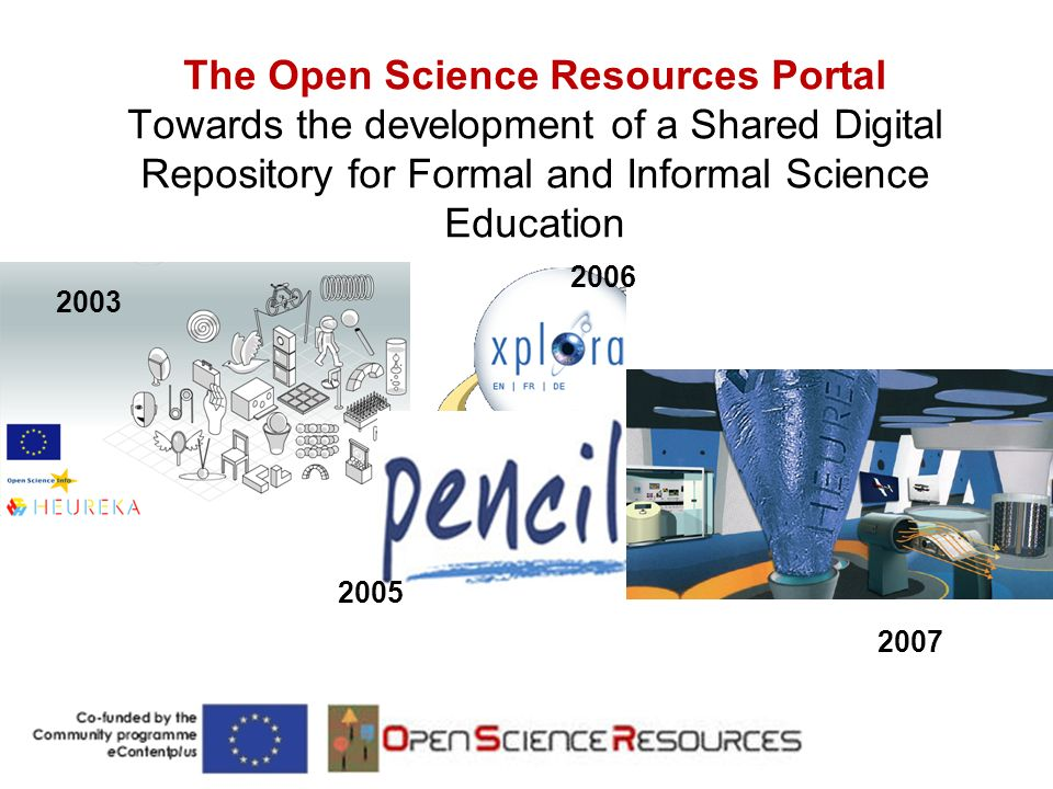 The Open Science Resources Portal Towards the development of a Shared Digital Repository for Formal and Informal Science Education