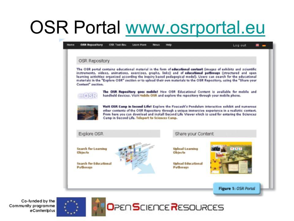 OSR Portal www.osrportal.euwww.osrportal.eu