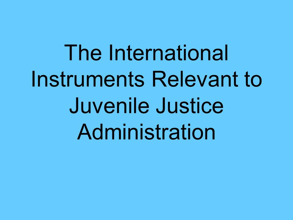 CRC The CRC provisions applicable to juvenile justice administration are: Article 37 - protection from torture Article 39 - rehabilitation and social reintegration of children Article 40 - administration of juvenile justice Juvenile Justice Manual, Module Two 1