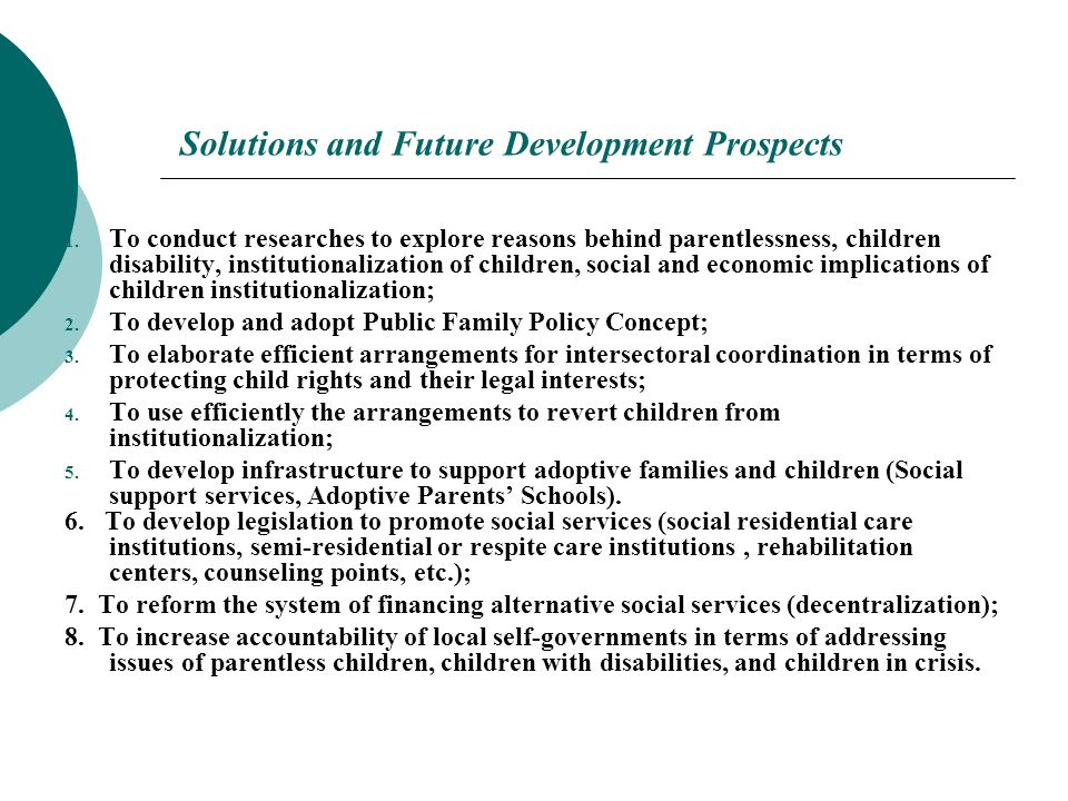 Solutions and Future Development Prospects 1.