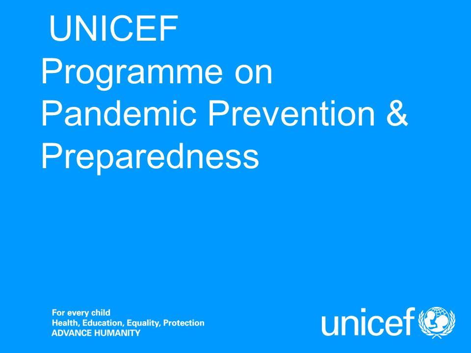 UNICEF Programme on Pandemic Prevention & Preparedness