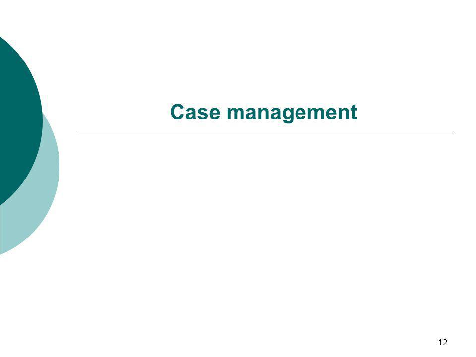 12 Case management