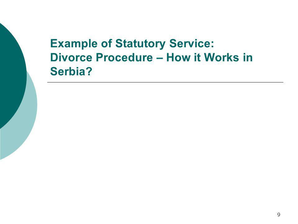 9 Example of Statutory Service: Divorce Procedure – How it Works in Serbia?