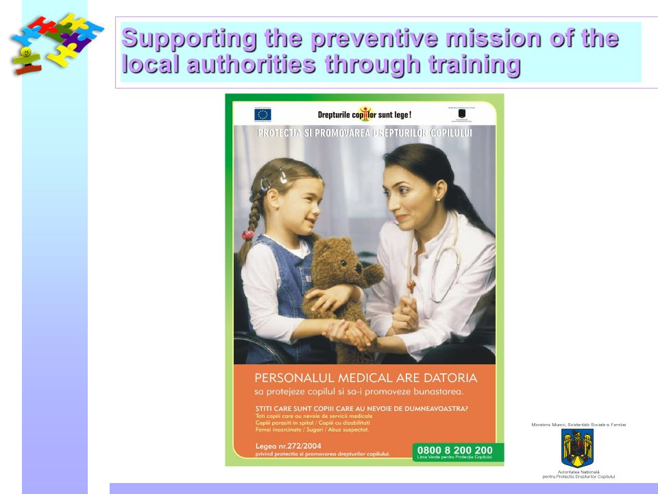 Supporting the preventive mission of the local authorities through training