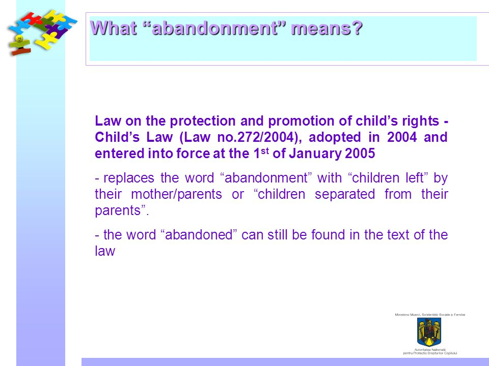 What abandonment means.