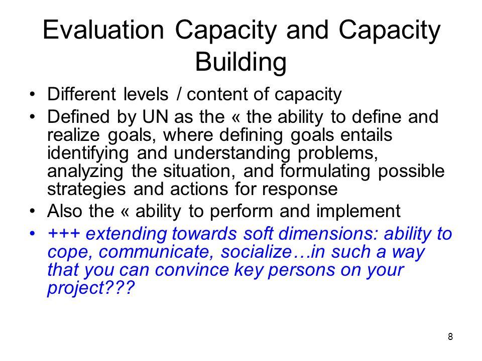 9 Evaluation Culture … « Evaluation sensitivity.Readiness.