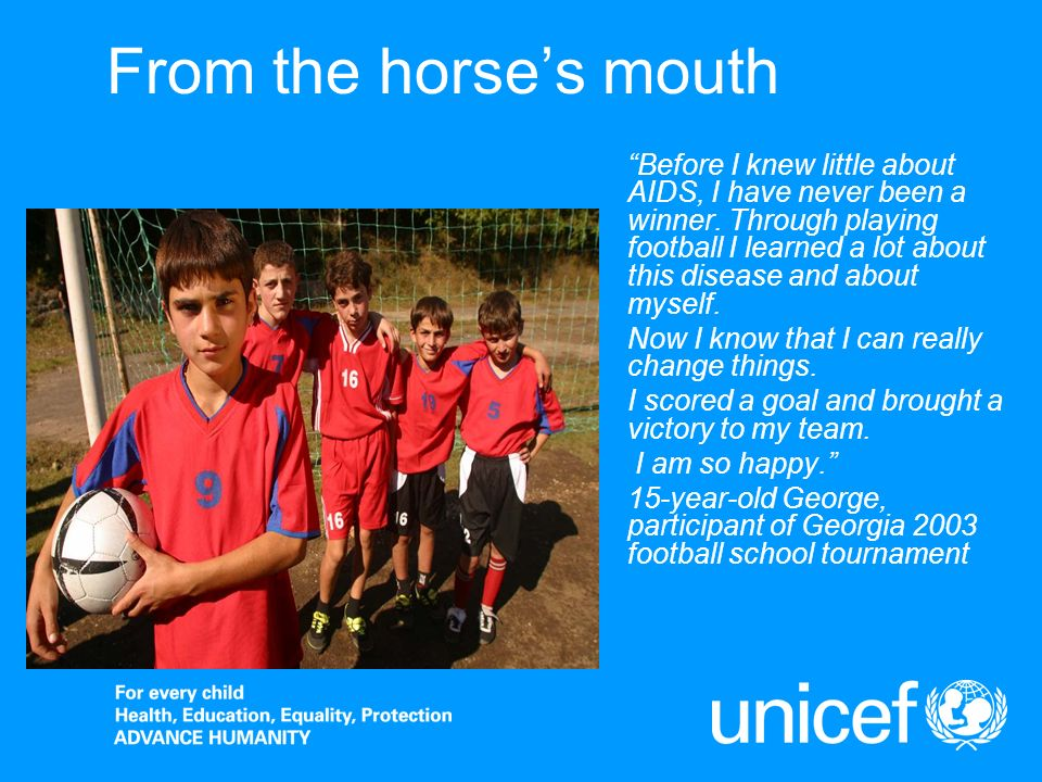 From the horses mouth Before I knew little about AIDS, I have never been a winner.