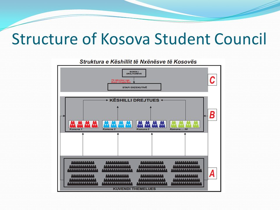 Structure of Kosova Student Council