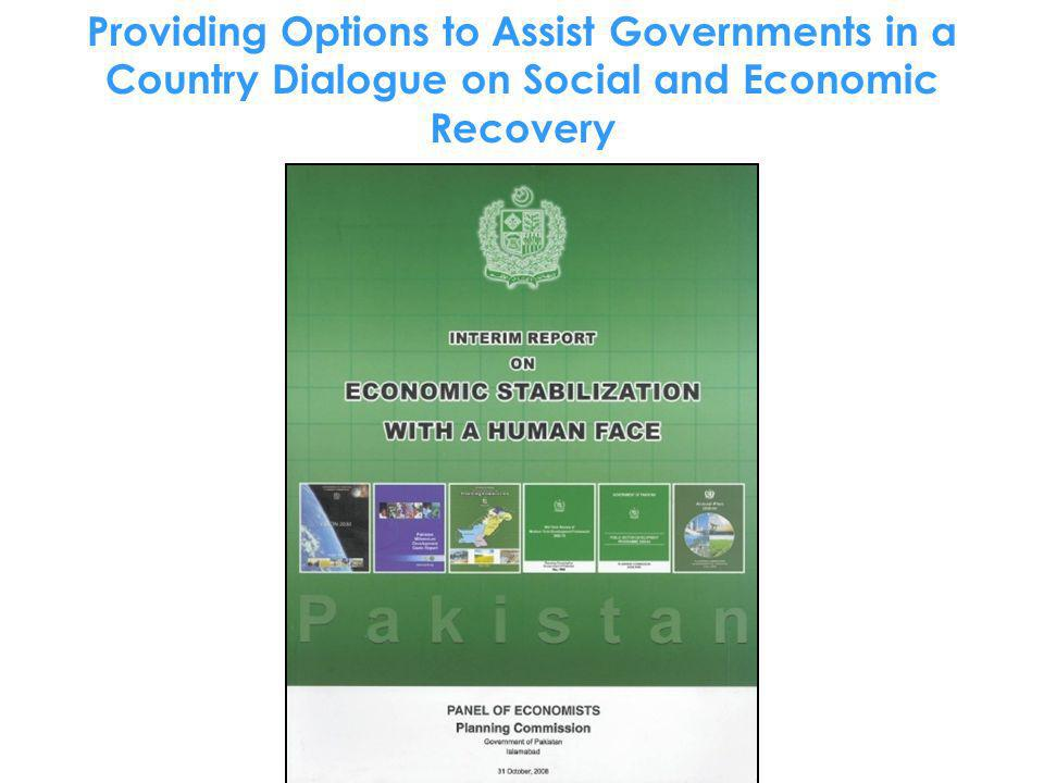 Providing Options to Assist Governments in a Country Dialogue on Social and Economic Recovery