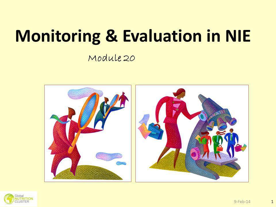 9-Feb-141 Monitoring & Evaluation in NIE Module 20