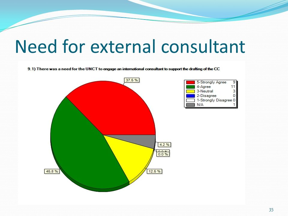 Need for external consultant 35