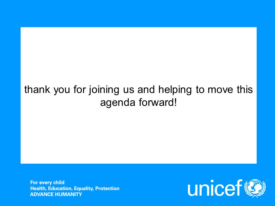thank you for joining us and helping to move this agenda forward!