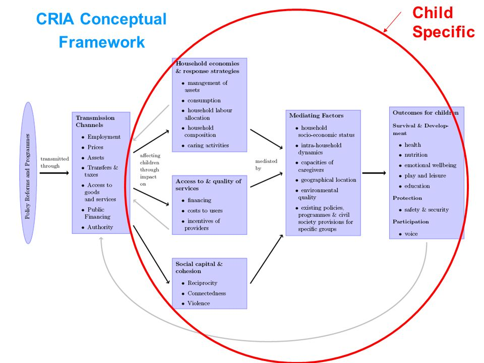 CRIA Conceptual Framework Summary diagram here (will be slightly revised version) Child Specific