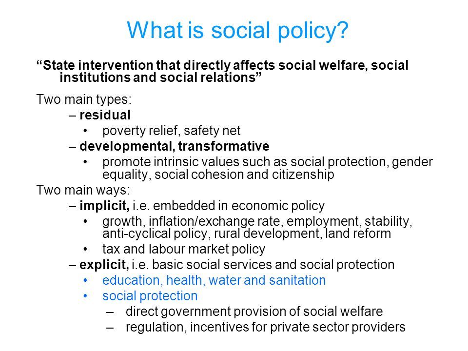 What is social policy.