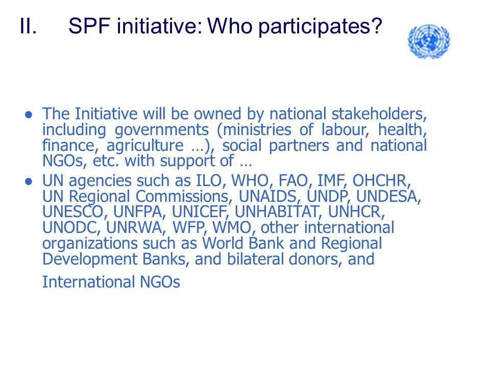 II.SPF initiative: Who participates.