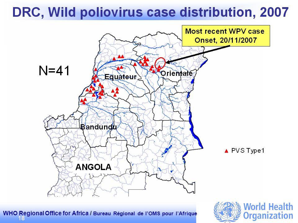 WHO Regional Office for Africa / Bureau Régional de lOMS pour lAfrique 18