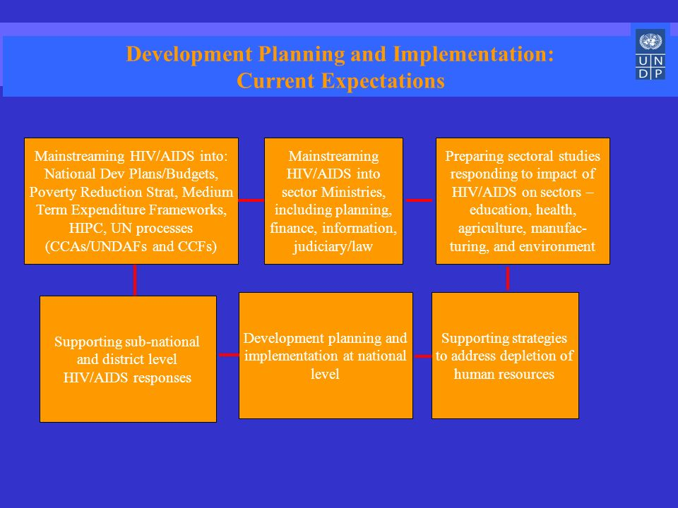 Supporting sub-national and district level HIV/AIDS responses Development Planning and Implementation: Current Expectations Mainstreaming HIV/AIDS int