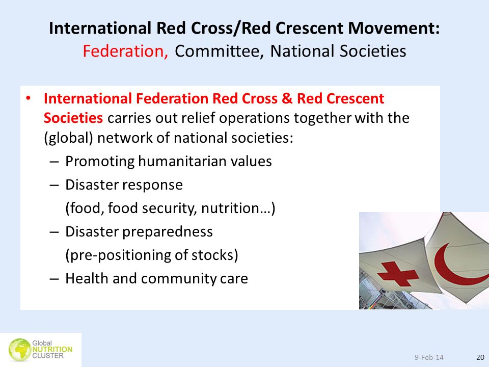 International Red Cross/Red Crescent Movement: Federation, Committee, National Societies International Federation Red Cross & Red Crescent Societies c