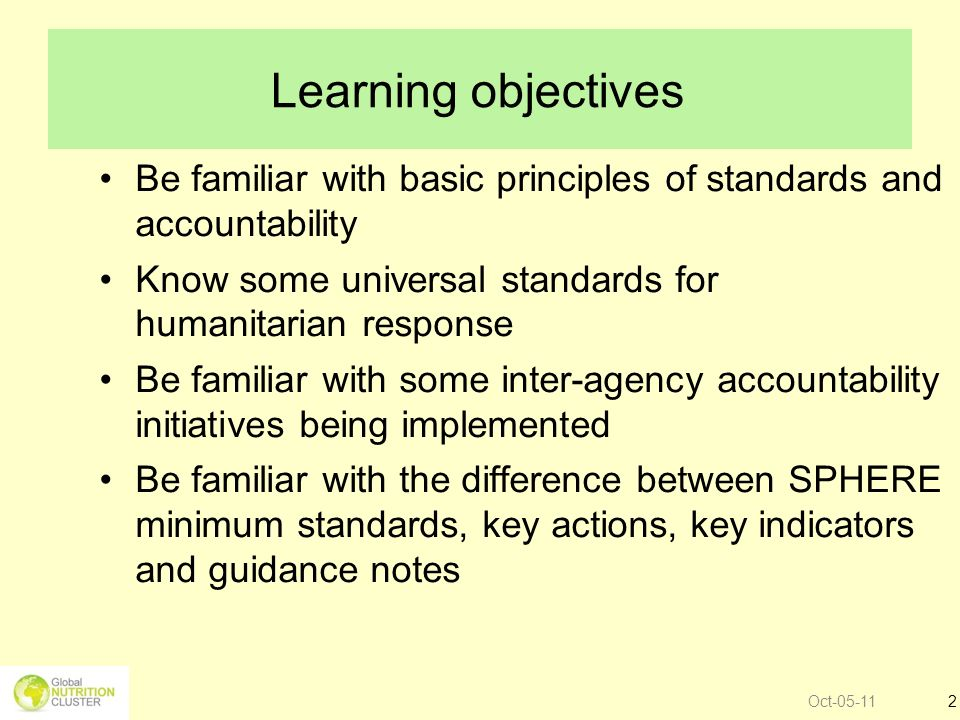 Introduction Standards and Accountability are linked.