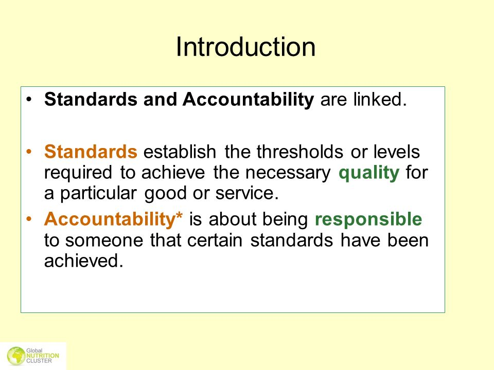 Oct-05-115 Various standards Legal standards – laws/rights Principle-based, voluntary standards – codes of conduct Technical standards – e.g.