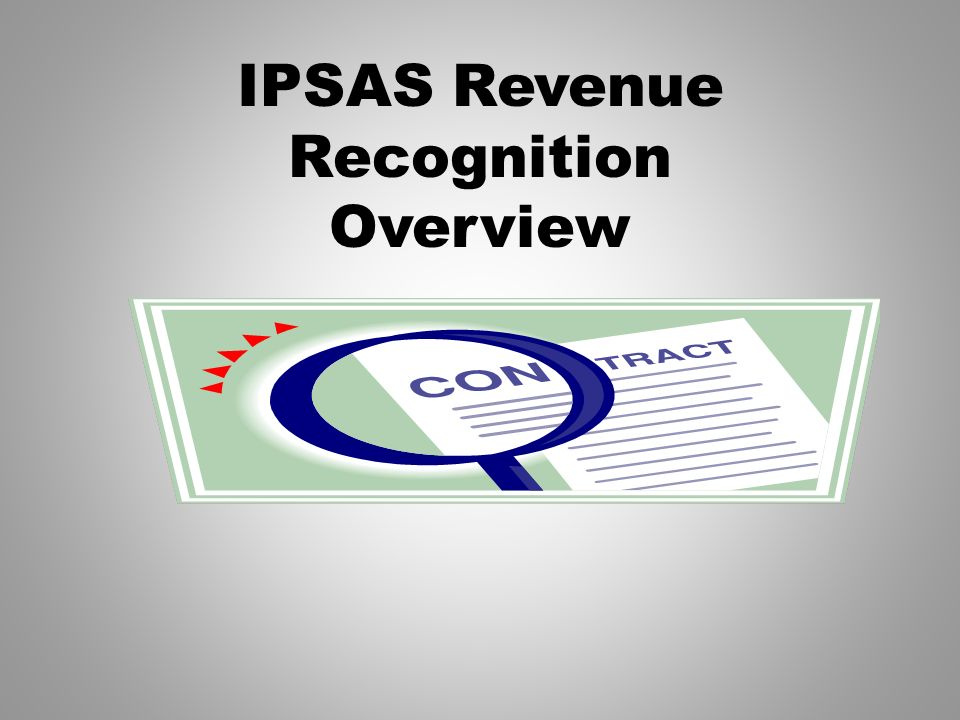 IPSAS Revenue Recognition Overview