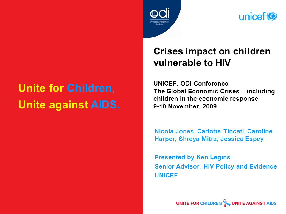 Unite for Children, Unite against AIDS.