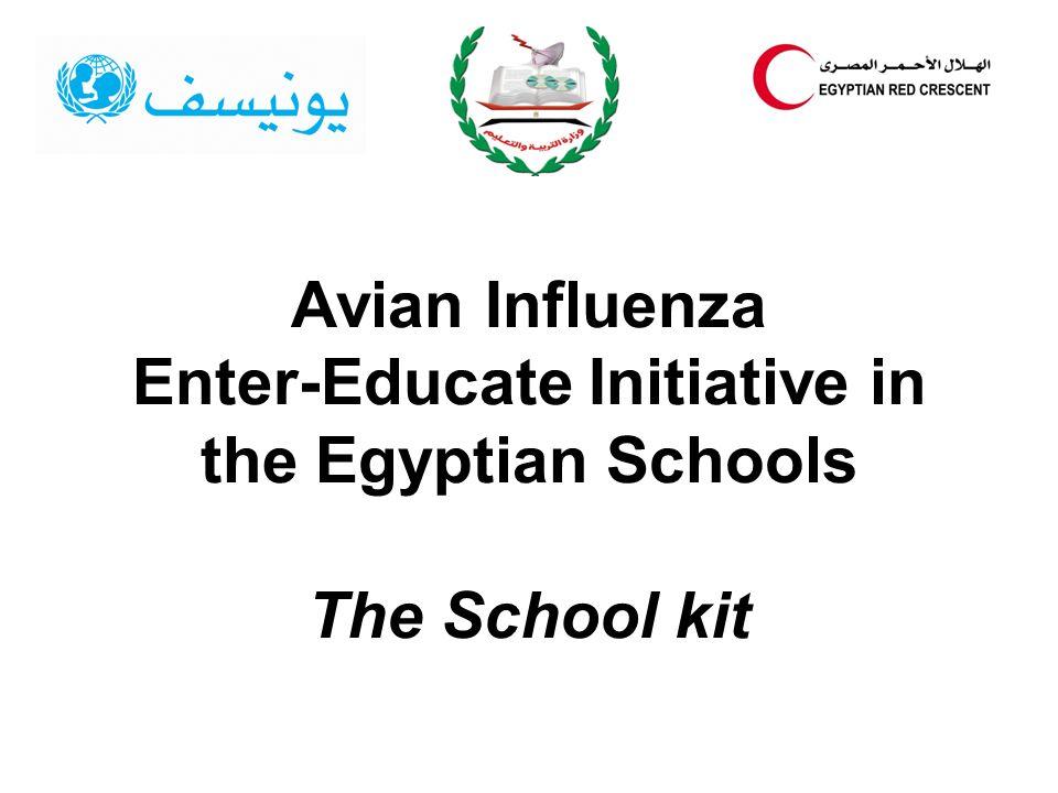 Avian Influenza Enter-Educate Initiative in the Egyptian Schools The School kit