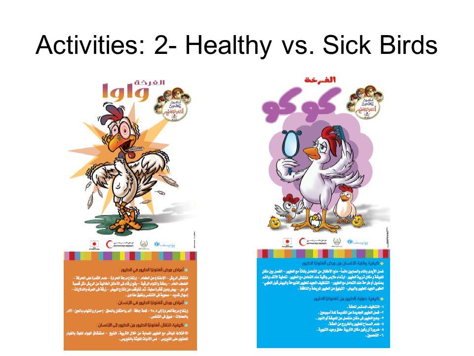 Activities: 2- Healthy vs. Sick Birds