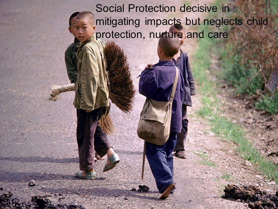 Social Protection decisive in mitigating impacts but neglects child protection, nurture and care
