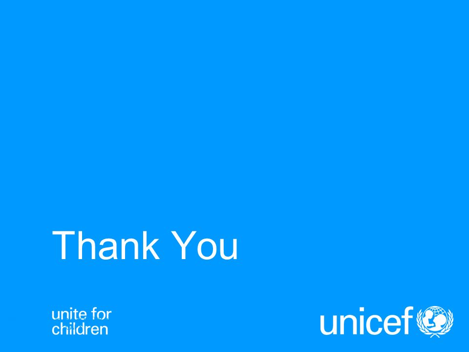 Thank You UNICEFType your title in this FOOTER area and in CAPS