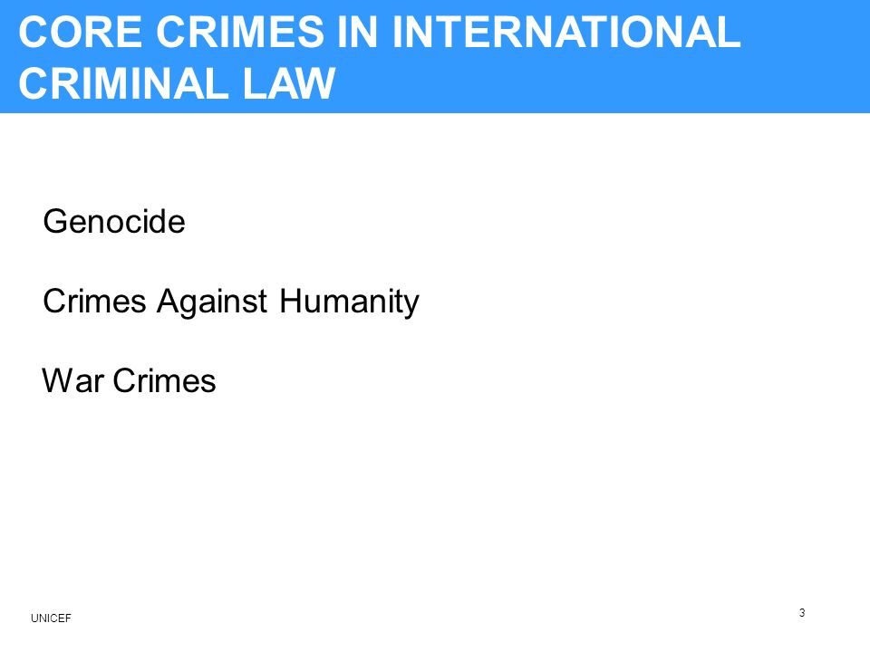 CORE CRIMES OF INTERNATIONAL CRIMINAL LAW 3) Can the same crimes constitute both a crime against humanity and a war crime.