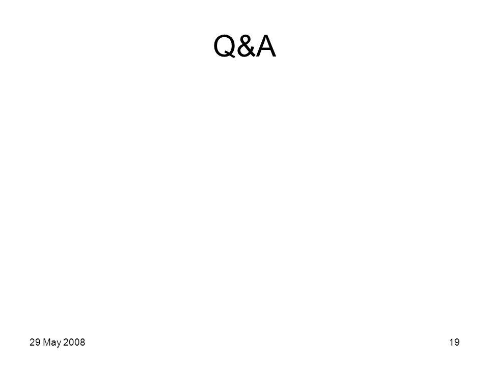 29 May 200819 Q&A