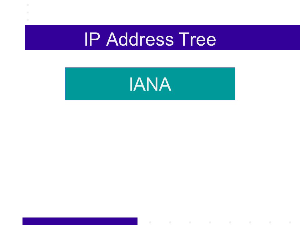 IP Address Tree IANA