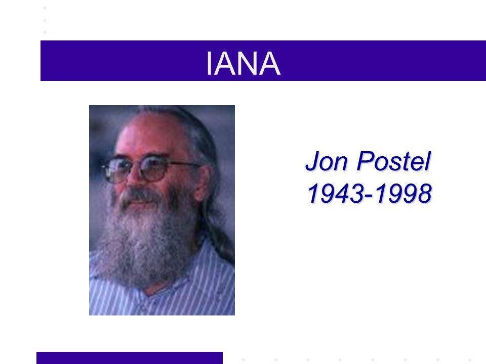 Jon Postel 1943-1998 IANA