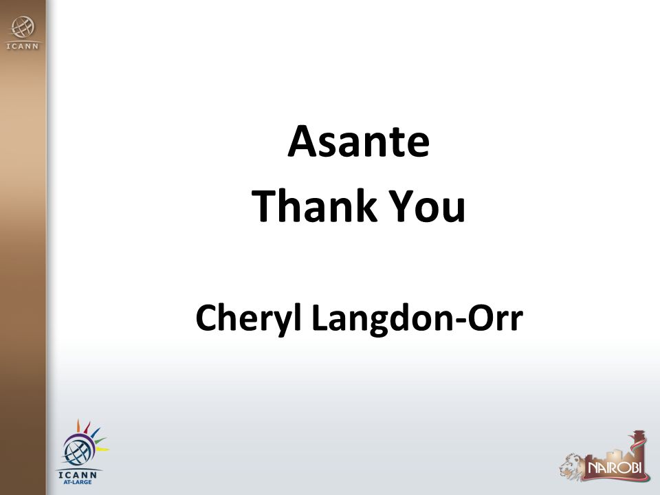Asante Thank You Cheryl Langdon-Orr
