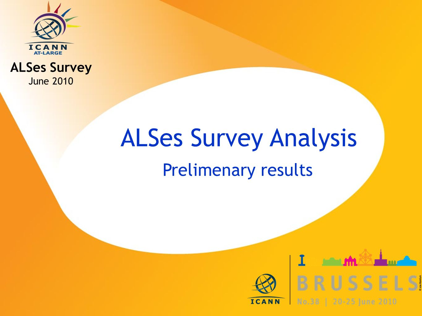 ICANN MEETING NO. 38 | 20-25 JUNE 2010 ALSes Survey Analysis Prelimenary results ALSes Survey June 2010