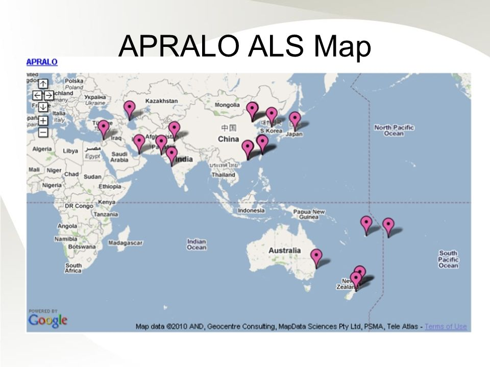 APRALO ALS Map