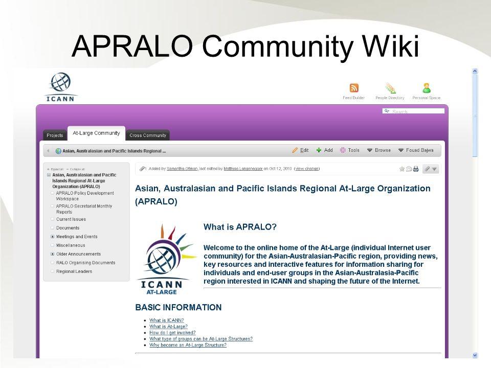 APRALO Community Wiki