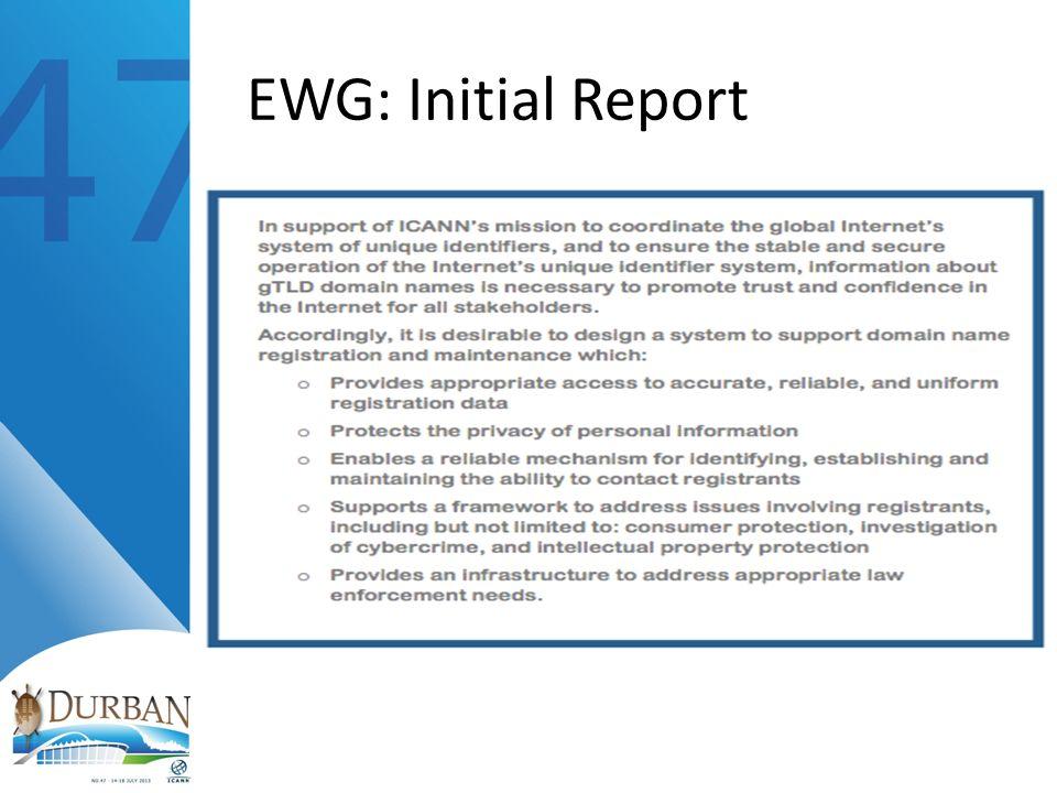 EWG: Initial Report